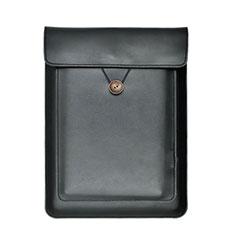 Double Pochette Housse Cuir L09 pour Apple MacBook Pro 15 pouces Retina Noir