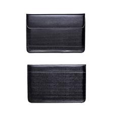 Double Pochette Housse Cuir L14 pour Apple MacBook Pro 15 pouces Retina Noir