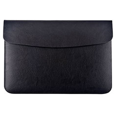 Double Pochette Housse Cuir L15 pour Apple MacBook Pro 15 pouces Retina Noir