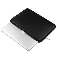 Double Pochette Housse Cuir L16 pour Apple MacBook Pro 15 pouces Retina Noir