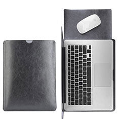 Double Pochette Housse Cuir L17 pour Apple MacBook Pro 15 pouces Retina Noir