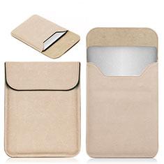 Double Pochette Housse Cuir L19 pour Apple MacBook Pro 15 pouces Retina Or