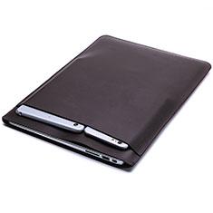 Double Pochette Housse Cuir L20 pour Apple MacBook Pro 15 pouces Retina Marron