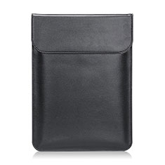 Double Pochette Housse Cuir L21 pour Apple MacBook 12 pouces Noir
