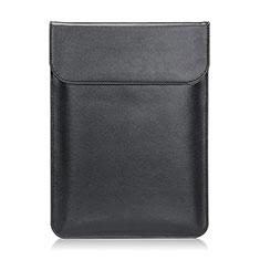 Double Pochette Housse Cuir L21 pour Apple MacBook Pro 13 pouces Noir