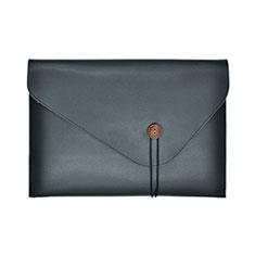 Double Pochette Housse Cuir L22 pour Apple MacBook Pro 15 pouces Retina Noir