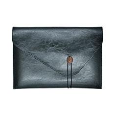 Double Pochette Housse Cuir L23 pour Apple MacBook 12 pouces Noir
