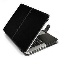 Double Pochette Housse Cuir L24 pour Apple MacBook 12 pouces Noir