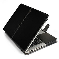 Double Pochette Housse Cuir L24 pour Apple MacBook Pro 13 pouces Noir