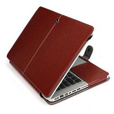 Double Pochette Housse Cuir L24 pour Apple MacBook Pro 15 pouces Marron