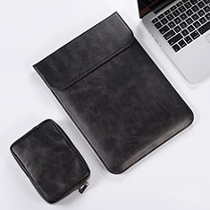 Double Pochette Housse Cuir pour Apple MacBook Pro 15 pouces Retina Noir