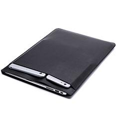 Double Pochette Housse Cuir pour Huawei Honor MagicBook 15 Noir