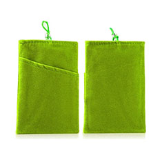 Double Pochette Housse Velour Universel pour Huawei Honor Magic 2 Vert