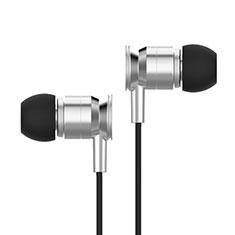 Ecouteur Casque Filaire Sport Stereo Intra-auriculaire Oreillette H14 pour Huawei MediaPad M5 8.4 SHT-AL09 SHT-W09 Argent