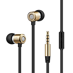 Ecouteur Casque Filaire Sport Stereo Intra-auriculaire Oreillette H18 pour Wiko Seri Wiko Or