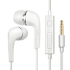 Ecouteur Casque Filaire Sport Stereo Intra-auriculaire Oreillette H20 pour Huawei Mate 30 5G Blanc