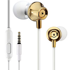 Ecouteur Casque Filaire Sport Stereo Intra-auriculaire Oreillette H21 pour Wiko Seri Wiko Or
