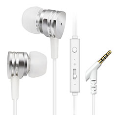 Ecouteur Casque Filaire Sport Stereo Intra-auriculaire Oreillette H24 pour Huawei Mate 30 5G Argent