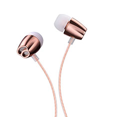 Ecouteur Casque Filaire Sport Stereo Intra-auriculaire Oreillette H26 pour Huawei Mate 30 Or Rose
