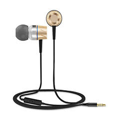 Ecouteur Casque Filaire Sport Stereo Intra-auriculaire Oreillette H30 pour Huawei Mate 30 Or