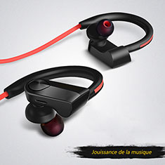 Ecouteur Casque Sport Bluetooth Stereo Intra-auriculaire Sans fil Oreillette H53 pour Motorola Moto G Fast Noir
