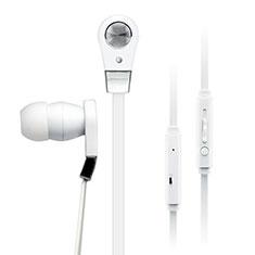 Ecouteur Filaire Sport Stereo Casque Intra-auriculaire Oreillette pour Huawei Mate 30 Blanc