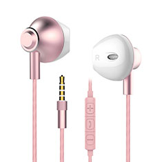 Ecouteur Filaire Sport Stereo Casque Intra-auriculaire Oreillette H05 pour Huawei Mate 30 Rose