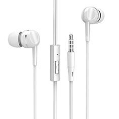 Ecouteur Filaire Sport Stereo Casque Intra-auriculaire Oreillette H09 pour Huawei MediaPad M5 8.4 SHT-AL09 SHT-W09 Blanc