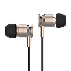 Ecouteur Filaire Sport Stereo Casque Intra-auriculaire Oreillette H14 pour Huawei MediaPad M5 8.4 SHT-AL09 SHT-W09 Or