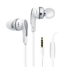 Ecouteur Filaire Sport Stereo Casque Intra-auriculaire Oreillette H23 pour Sony Xperia XA2 Ultra Blanc