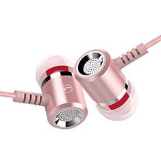 Ecouteur Filaire Sport Stereo Casque Intra-auriculaire Oreillette H25 pour Huawei MediaPad M5 8.4 SHT-AL09 SHT-W09 Rose