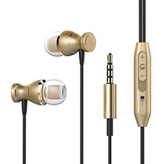 Ecouteur Filaire Sport Stereo Casque Intra-auriculaire Oreillette H34 pour Wiko Seri Wiko Or