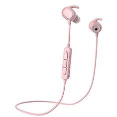 Ecouteur Sport Bluetooth Stereo Casque Intra-auriculaire Sans fil Oreillette H43 pour Huawei Matebook Hz W09 Rose