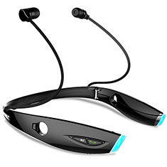 Ecouteur Sport Bluetooth Stereo Casque Intra-auriculaire Sans fil Oreillette H52 pour Samsung Galaxy J3 Pro Noir