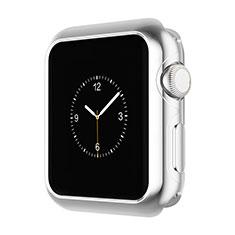 Etui Bumper Luxe Aluminum Metal A01 pour Apple iWatch 3 42mm Argent
