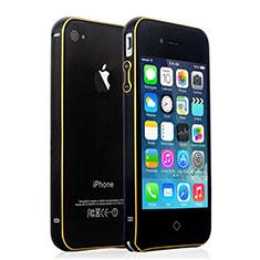 Etui Bumper Luxe Aluminum Metal pour Apple iPhone 4 Noir