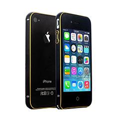 Etui Bumper Luxe Aluminum Metal pour Apple iPhone 4S Noir