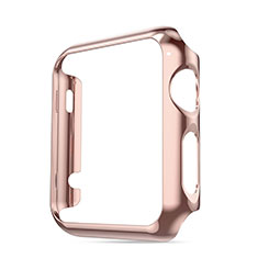 Etui Bumper Luxe Aluminum Metal pour Apple iWatch 3 38mm Rose