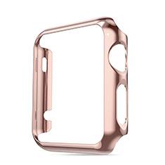 Etui Bumper Luxe Aluminum Metal pour Apple iWatch 3 42mm Rose