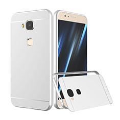 Etui Bumper Luxe Aluminum Metal pour Huawei G7 Plus Argent