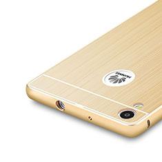 Etui Bumper Luxe Aluminum Metal pour Huawei P7 Dual SIM Or