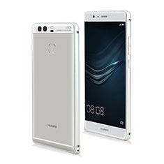 Etui Bumper Luxe Aluminum Metal pour Huawei P9 Plus Blanc