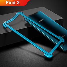 Etui Bumper Luxe Aluminum Metal pour Oppo Find X Bleu