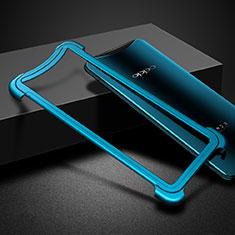 Etui Bumper Luxe Aluminum Metal pour Oppo Find X Super Flash Edition Bleu
