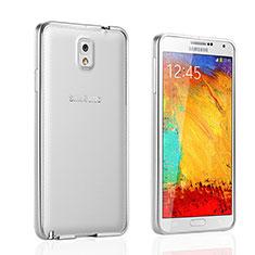 Etui Bumper Luxe Aluminum Metal pour Samsung Galaxy Note 3 N9000 Argent