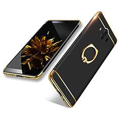 Etui Bumper Luxe Metal et Plastique avec Support Bague Anneau A02 pour Huawei Mate 10 Noir
