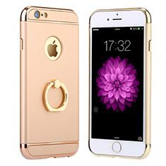 Etui Bumper Luxe Metal et Plastique avec Support Bague Anneau A05 pour Apple iPhone 6S Or