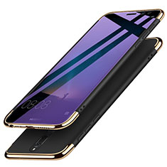 Etui Bumper Luxe Metal et Plastique avec Support Bague Anneau pour Huawei G10 Noir