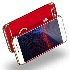 Etui Bumper Luxe Metal et Plastique avec Support Bague Anneau pour Huawei Honor 8 Rouge