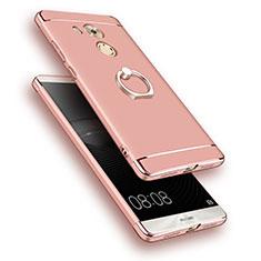 Etui Bumper Luxe Metal et Plastique avec Support Bague Anneau pour Huawei Mate 8 Or Rose